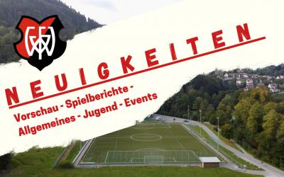 Vorschau: FV Wildbad spielfrei, FVW 2 Spiel verlegt